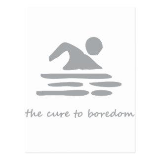 El nadar… la curación al aburrimiento tarjetas postales