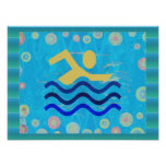 El nadar:  Los tiempos calientes refrescan mente Posters
