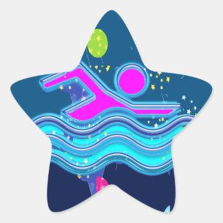EL NADAR:  Mentes frescas en épocas calientes Pegatina En Forma De Estrella