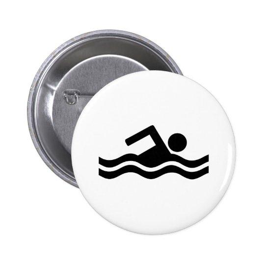 El nadar pin redondo de 2 pulgadas