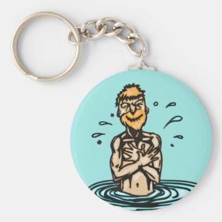 El nadar que va llavero redondo tipo pin