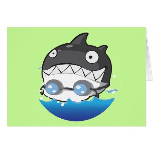 El nadar tarjeta de felicitación