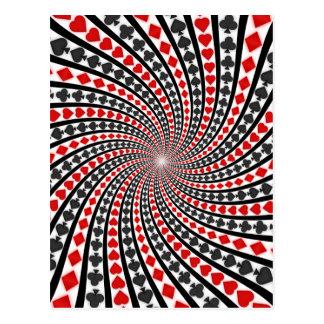 El naipe se adapta a espiral: postal