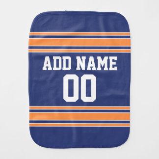 El naranja azul se divierte el jersey con nombre y paños para bebé