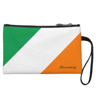 El naranja blanco verde lindo raya el mini embragu