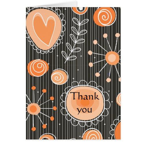 El naranja caprichoso de las flores le agradece ca felicitacion