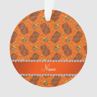 El naranja conocido lleva el modelo de las abejas