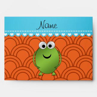 El naranja conocido personalizado de la rana