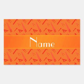 El naranja conocido personalizado equipa el modelo rectangular altavoz
