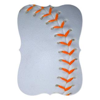 """El naranja cose béisbol/softball invitación 5"""" x 7"""""""