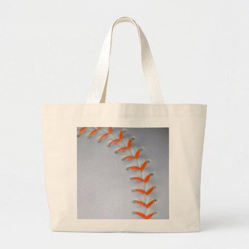El naranja cose softball/béisbol bolsa