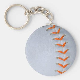 El naranja cose softball/béisbol llavero redondo tipo pin