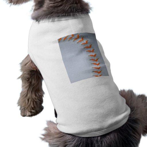 El naranja cose softball/béisbol camisetas de mascota
