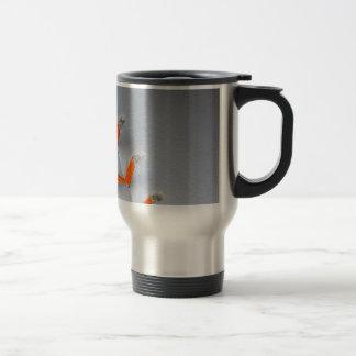 El naranja cose softball/béisbol tazas de café