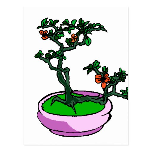El naranja de los bonsais de la azalea florece el  tarjetas postales
