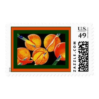 El naranja de los naranjas adorna los sellos