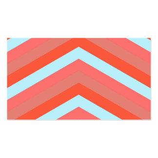 El naranja de moda sombrea el modelo de zigzag tarjetas de visita