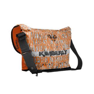 El naranja de neón añade el bolso del código conoc bolsa de mensajería