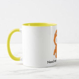 ¡el naranja del cafeína, ahora necesita mi taza