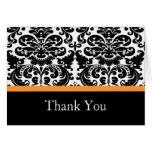 El naranja del damasco le agradece tarjeta de nota