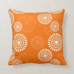 El naranja del verano florece la almohada