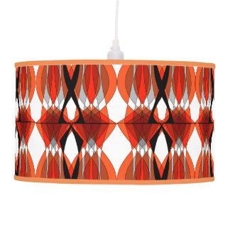 El naranja elegante entona el estilo tribal lámpara de techo