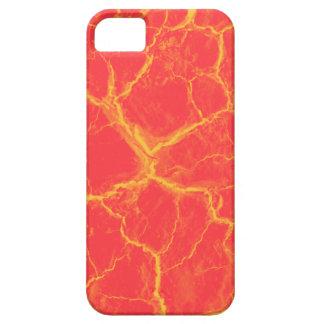 El naranja en rojo agrieta el caso del iPhone 5 iPhone 5 Carcasas