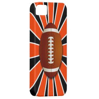 El naranja, equipo blanco y negro colorea fútbol iPhone 5 Case-Mate funda