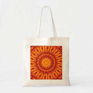 El naranja flamea el caleidoscopio bolsas de mano