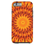 El naranja flamea el caleidoscopio funda de iPhone 6 tough