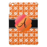 El naranja florece diamantes del monograma iPad mini cárcasa