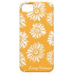 El naranja florece la caja del iPhone 5 iPhone 5 Protectores