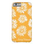 El naranja florece la caja del iPhone 6