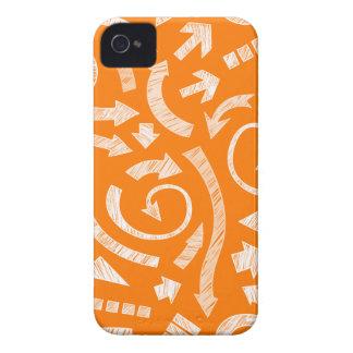El naranja garabateó a flechas Blackberry el caso iPhone 4 Protector