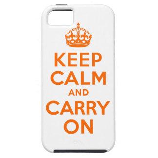 El naranja guarda calma y continúa iPhone 5 carcasa