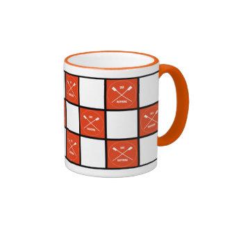 El naranja inspirador del remo ajusta al rower taza de dos colores
