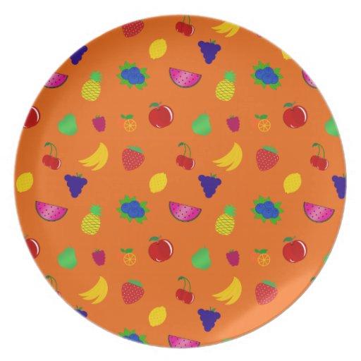 El naranja lindo da fruto modelo plato de cena