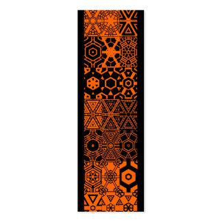 El naranja más pattern_harvest de la calabaza de l plantilla de tarjeta de visita