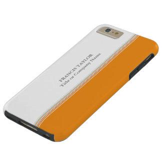 El naranja mínimo moderno elegante raya el modelo… funda para iPhone 6 plus tough