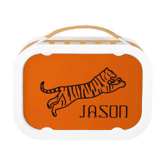 El naranja negro del tigre embroma la escuela
