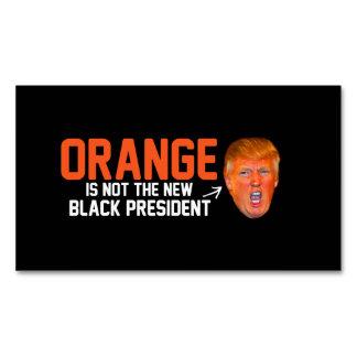 El naranja no es el nuevo presidente negro - - tarjetas de visita magnéticas (paquete de 25)