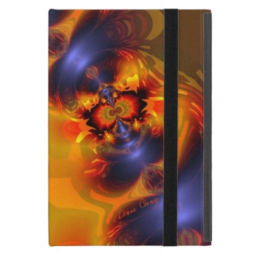 El naranja observa a la criatura encendida, abstra iPad mini cobertura