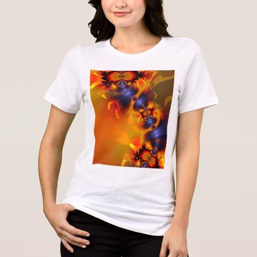 El naranja observa a la criatura encendida, abstra camisetas