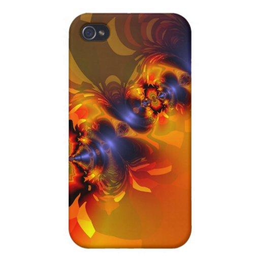 El naranja observa encendido - oro y el placer iPhone 4/4S funda