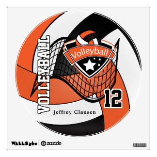 El naranja personaliza voleibol vinilo adhesivo