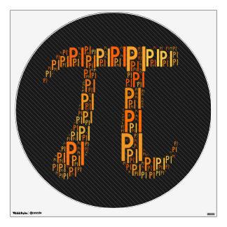 El naranja pi mecanografió los regalos del friki vinilo decorativo