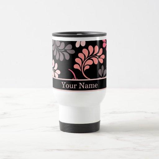 El naranja rosado coralino florece los regalos de  tazas de café