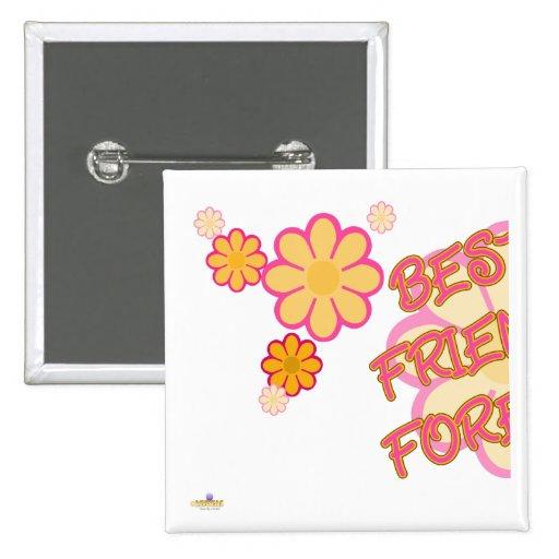 El naranja rosado de los mejores amigos florece pa pin cuadrada 5 cm