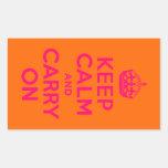 El naranja rosado guarda calma y continúa rectangular altavoces