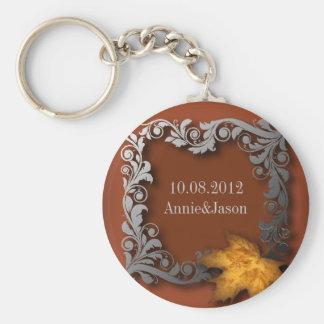 el naranja sale de favor del boda del otoño llavero redondo tipo pin